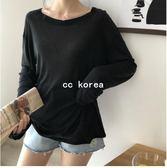 透膚溫柔風素色針織衫 CC KOREA ~ Q17687
