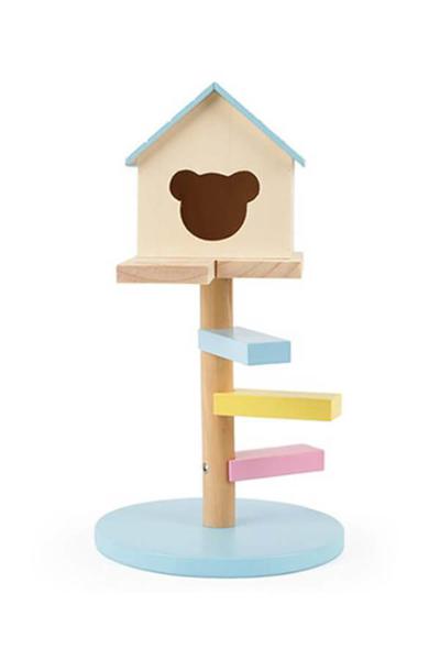 寵物家族-CARNO卡諾 倉鼠舒適原木屋-空中閣樓(顏色隨機)
