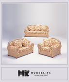 【MK億騰傢俱】AS042-09雕花麻布沙發組