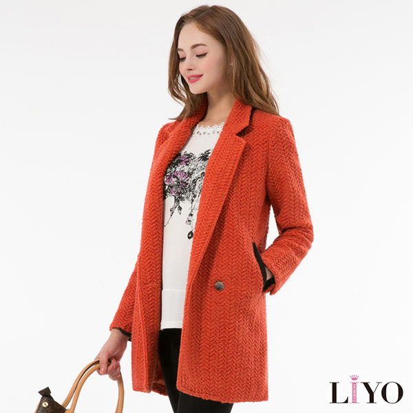 LIYO理優外套羊毛大衣長外套449009