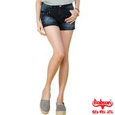 BOBSON 女款角鋁片牛仔短褲(藍203-53)