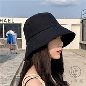 漁夫帽女夏韓版百搭日系防紫外線遮陽太陽帽【小酒窩服飾】