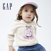Gap女幼童 碳素軟磨系列 刷毛休閒上衣 739197-燕麥色