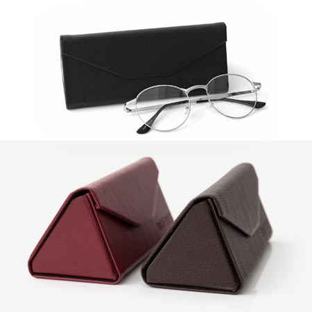質感皮革眼鏡盒 隨身好攜摺疊設計 高級絨布內裡輕巧好收納 柒彩年代【NY290】單個