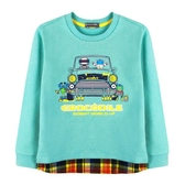 『小鱷魚童裝』假2件式刷毛T恤(02號~10號)554442