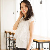❖ Hot item ❖ 刺繡薄紗層次感上衣 - Green Parks