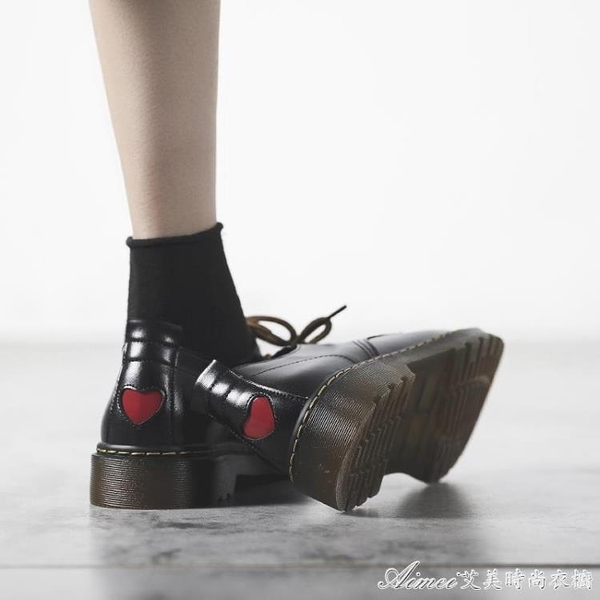 皮鞋牛津鞋黑色粗跟英倫小皮鞋日繫女jk夏韓版百搭軟底繫帶牛津鞋潮 快速出貨