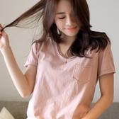 優一居 韓版大碼純棉短袖t恤女百搭休閒上衣寬鬆打底衫夏裝潮