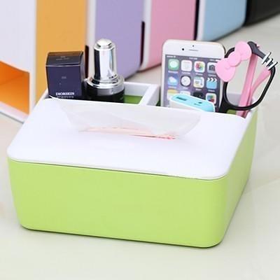 【辦公桌面雜物遙控器收納盒LA307】NO135浴室臥室紙巾抽盒收納盒衛生紙盒【八八八】e網購