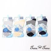 【Tiara Tiara】細條紋短襪涼感襪(深藍/灰/黃/黑)