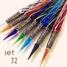 義大利 Bortoletti set32 螺旋玻璃沾水筆+墨水組合(共七色可選)21501170826452 / 組