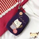 鑰匙包~雅瑪小舖日系貓咪包 啵啵貓玩毛線球鑰匙包/拼布包包