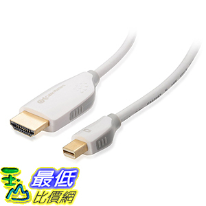 [美國直購] Cable Matters 101009-10 Gold Plated Mini DisplayPort to HDTV Cable in Black 3 Feet _TB1