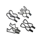 線條感鏤空磨砂鴨嘴夾髮夾 一對入 髮飾 頭髮造型用品 髮夾