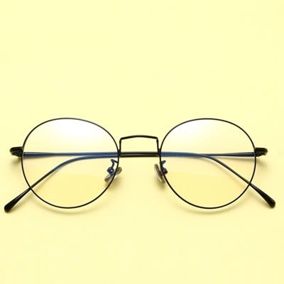 鏡架(圓框)-細邊文藝氣質復古男女平光眼鏡5色73oe27【巴黎精品】