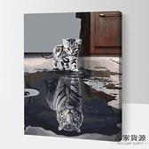 數字油畫diy手繪油彩畫抽象風景動物裝飾畫【毒家貨源】