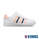 【超取】K-SWISS Montara時尚運動鞋-女-白/蜜桃橘/深灰紫