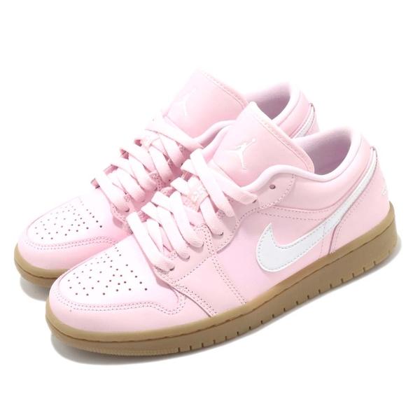 Nike WMNS Air Jordan 1 Low Pink Gum女 粉紅 牛奶糖膠底 休閒鞋 DC0774-601