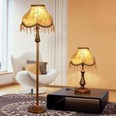 落地燈 歐式創意時尚簡約客廳立式現代美式臥室床頭落地 - 夢藝家
