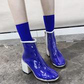 透明靴子女夏2018新款短靴網紅同款高跟鞋chic馬丁靴女英倫風春秋