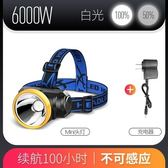 LED頭燈強光充電防潑水感應頭戴式手電筒超亮釣魚米小氙氣礦燈3000 玩趣3C