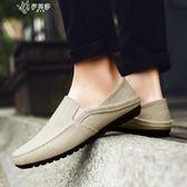 帆布鞋男夏季休閒鞋韓版亞麻布鞋懶人鞋        伊芙莎