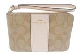 美國COACH 金色馬車 精美小手拿錢包最新設計 C LOGO白色設計 新品上市 限量優惠