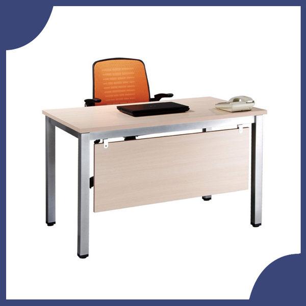 【必購網OA辦公傢俱】TSA-120 白橡木 烤銀方形4E 辦公桌