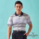 【Emilio Valentino】彈力機能運動休閒衫 - 灰藍