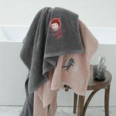 618大促 小紅帽時尚可愛浴巾純棉成人 柔軟情侶家用超強吸水游泳沙灘浴巾 百搭潮品