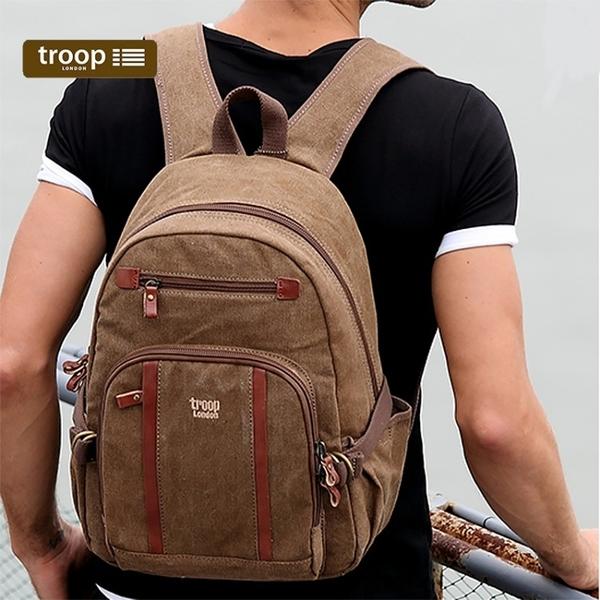 【TROOP】經典品格CLASSIC雙肩包/TRP0256BN(棕色)