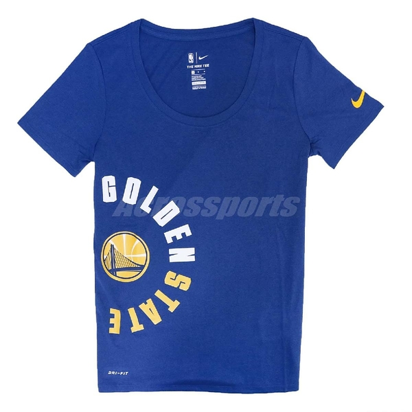 Nike T恤 Gsw Dry Tee 女款 舊金山 金州 勇士隊 Golden State Warriors 【PUMP306】 926638-495