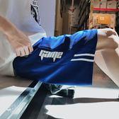 夏天ins運動短褲男潮寬鬆韓版潮牌嘻哈五分褲男bf直筒沙灘哈倫褲   麥吉良品