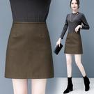 皮裙褲 啞光皮裙半身裙女新款高腰a字小皮裙ins超火裝包臀短裙褲