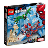 76114【LEGO 樂高積木】漫威英雄系列 Marvel - 蜘蛛爬行者 Spider-Man s Spider Crawler(418pcs)