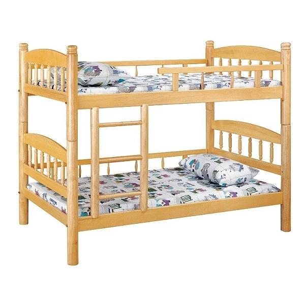雙層床 PK-184-2 白木3.5尺圓柱雙層床 (不含床墊) 【大眾家居舘】