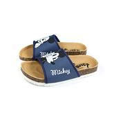 Disney Mickey Mouse 迪士尼 米奇 拖鞋 勃肯鞋 中童 藍色 D120147C no020