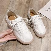 樂福鞋 小白鞋女鞋春季樂福鞋平底豆豆鞋牛筋軟底單鞋百搭休閒鞋-Ballet朵朵