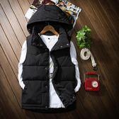 棉馬甲男秋冬新款韓版修身青年情侶背心無袖加厚馬夾坎肩帥氣外套『潮流世家』