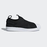 Adidas Superstar Slip On W [B37193] 女鞋 運動 休閒 襪套 黑 白 愛迪達