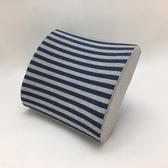 療癒系針織記憶釋壓腰靠墊-針織藍32x30cm