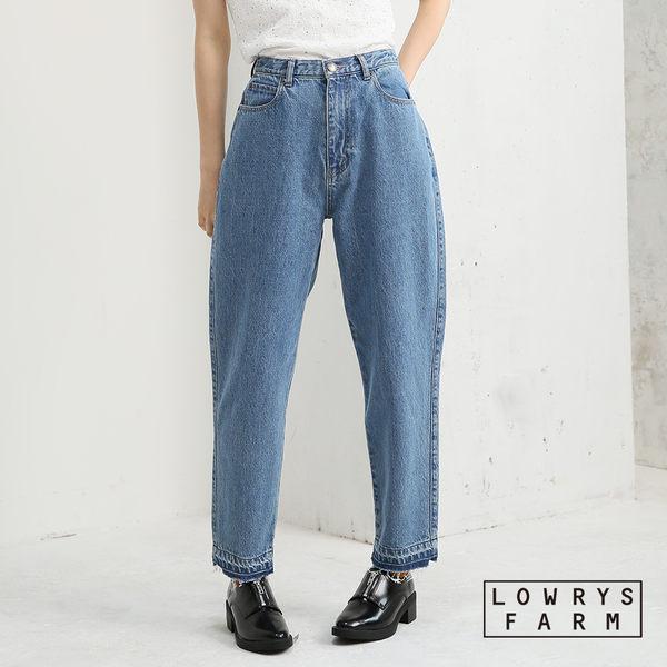 LOWRYS FARM復古著刷舊風Mom Jeans丹寧牛仔褲-二色