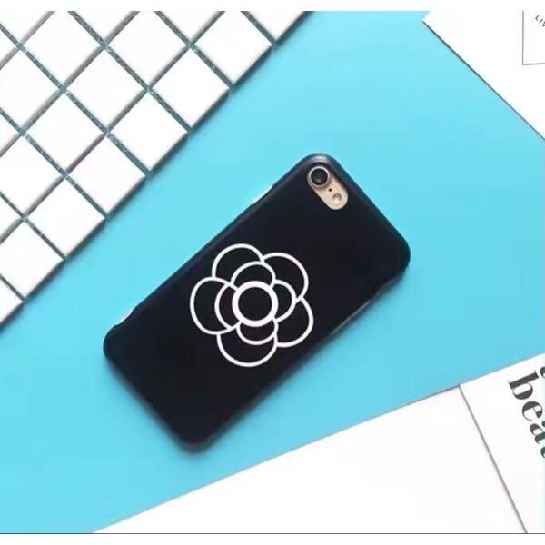 iPhone手機殼 可掛繩 韓國低調山茶花 磨砂軟殼全包 蘋果iPhone7/iPhone6手機殼