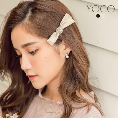 東京著衣【YOCO】法式甜心蝴蝶結鑽飾髮夾(172836)