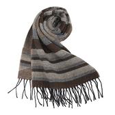 Vivienne Westwood經典LOGO 骷顱頭條紋圍巾(咖啡色)910524