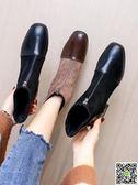 短靴 馬丁靴女 韓版新款秋季百搭英倫風粗跟ins短筒網紅學生小短靴 薇薇