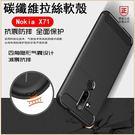 碳素拉絲紋 諾基亞 Nokia X71 手機殼 拉絲紋 防摔 抗震 防指紋 透氣 軟殼 Nokia X71 全包邊 矽膠套