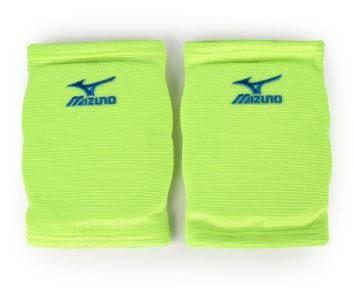 MIZUNO 美津濃 吸震易彎曲 吸濕排汗 薄型運動用護膝V2TY600635 螢光綠X藍刺繡[陽光樂活=]