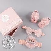 襪子 髮帶 寶寶 網紗 蝴蝶結 不規則 新生兒 公主 套裝 禮物 BW