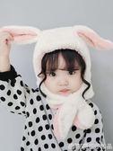 嬰兒帽子秋冬季嬰幼兒男童女童圍巾一體帽寶寶兒童護耳帽冬天男潮  橙子精品
